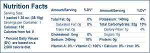 UCAN nutrition info pom blue